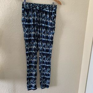 French Laundry Blue White Printed Pants Small